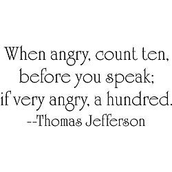 Design on Style Thomas Jefferson 'Angry' Vinyl Wall Art Quote