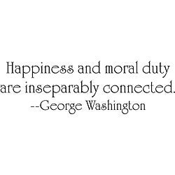 Design on Style George Washington 'Happiness' Vinyl Wall Art Quote