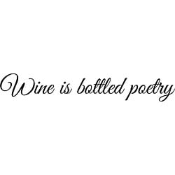 Design on Style 'Wine is Bottled Poetry' Vinyl Wall Art Quote