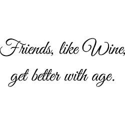 Design on Style 'Friends, Like Wine' Vinyl Wall Art Quote