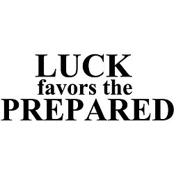 Design on Style 'Luck Favors the Prepared' Vinyl Wall Art Quote