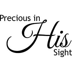 Design on Style 'Precious in His Sight' Vinyl Wall Art Quote