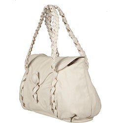 Made in Italy Desmo Ivory Deerskin Satchel - Thumbnail 1