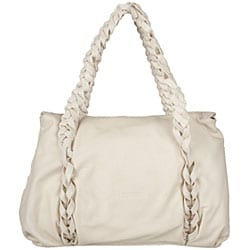 Made in Italy Desmo Ivory Deerskin Satchel - Thumbnail 2
