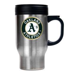 Oakland Athletics 16-oz Stainless Steel Travel Mug - Thumbnail 2