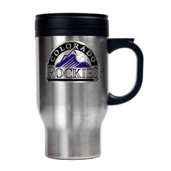 Colorado Rockies 16-oz Stainless Steel Travel Mug