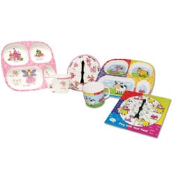 Play With Your Food Princess and Animals Double Eating Set