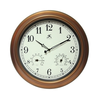 Link to The Craftsman Indoor/Outdoor Wall Clock Thermometer 18 inch by Infinity Instruments Similar Items in Decorative Accessories