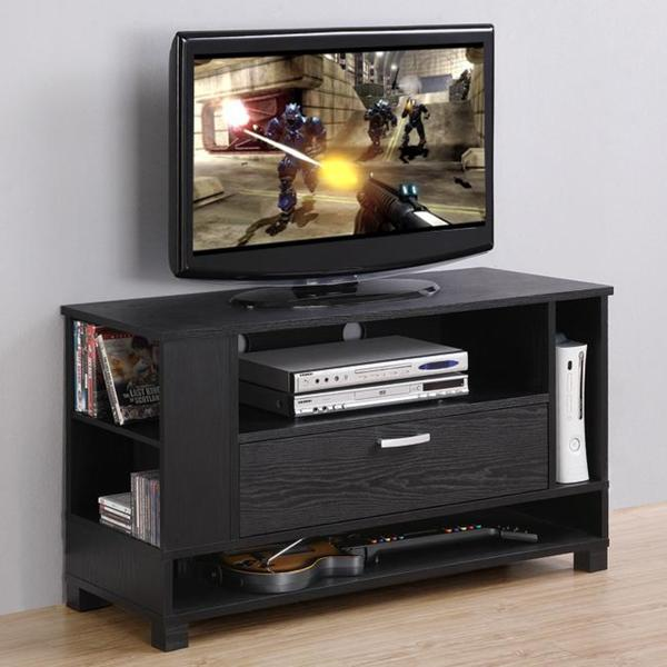 gaming tv stand Black Wood TV Stand - Gaming Console