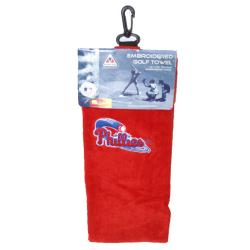 Philadelphia Phillies Embroidered Golf Towel - Thumbnail 2