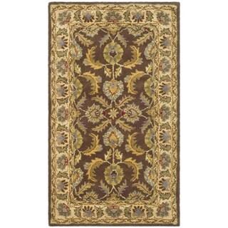 Safavieh Handmade Heritage Traditional Kerman Brown/ Ivory Wool Rug (8' x 11')