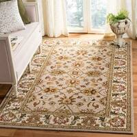 Safavieh Handmade Heritage Timeless Traditional Ivory/ Light Gold Wool Rug - 5' x 8'