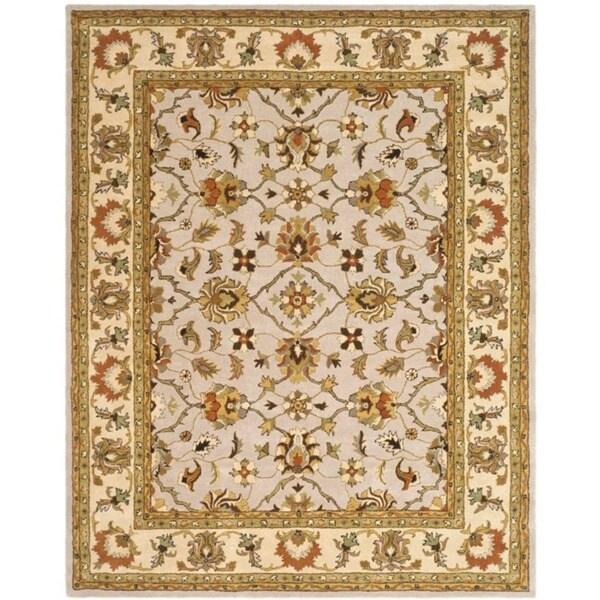 Safavieh Handmade Heritage Timeless Traditional Ivory/ Light Gold Wool Rug (7' 6 x 9' 6 )