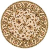Safavieh Handmade Heritage Timeless Traditional Ivory/ Light Gold Wool Rug - 8' x 8' Round
