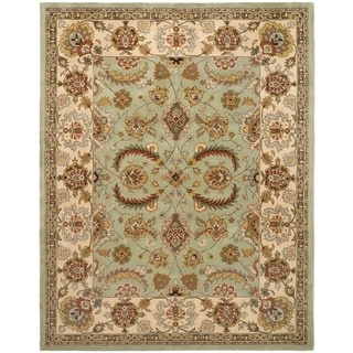 Safavieh Handmade Heritage Traditional Oushak Light Green/ Ivory Wool Rug (7' 6 x 9' 6 )