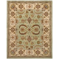 Safavieh Handmade Heritage Traditional Oushak Light Green/ Ivory Wool Rug - 7'6 x 9'6