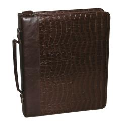 Thumbnail 2, Buxton Unisex Croc-embossed Leather Cal-Q Zip-around Fashion Folio. Changes active main hero.