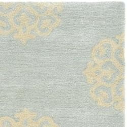 Safavieh Handmade Soho Medallion Light Blue N. Z. Wool Runner (2'6 x 12') - Thumbnail 1