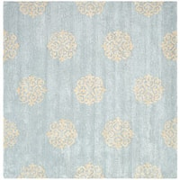 Safavieh Handmade Soho Medallion Light Blue N. Z. Wool Area Rug - 6' x 6' Square