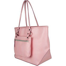 Made in Italy Desmo Pink Leather Tote - Thumbnail 1