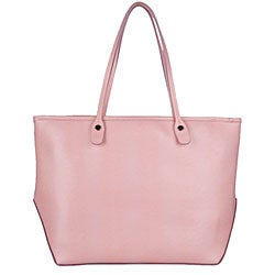 Made in Italy Desmo Pink Leather Tote - Thumbnail 2