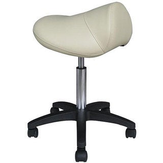 Pneumatic Beige Rolling Saddle Massage Stool