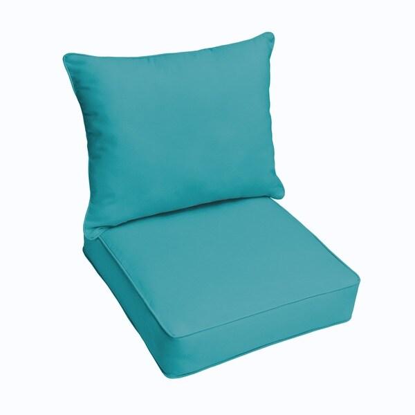 clara wicker outdoor arm chair cushion/ throw pillow set with