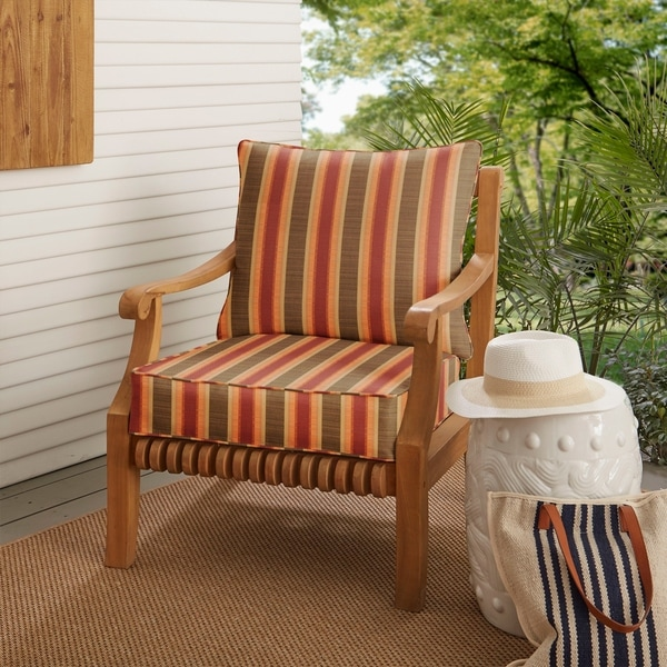 Sunbrella Indoor/ Outdoor Deep Seating Cushion and Pillow Set