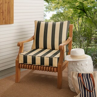Sunbrella Indoor/ Outdoor Deep Seating Cushion and Pillow Set (More options available)