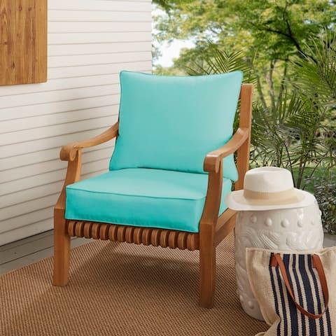 Sunbrella Indoor Outdoor Deep Seating Cushion And Pillow Set