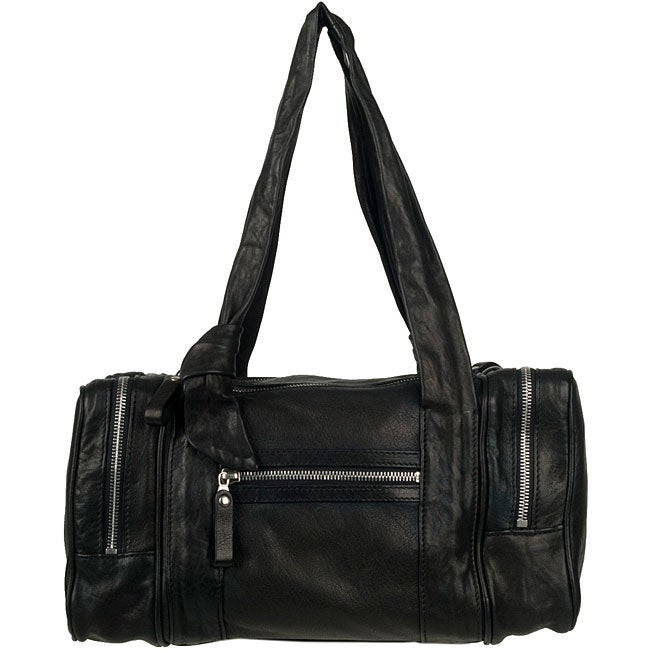 ec6bfb30a1 Shop Made in Italy Desmo Black Nappa Tote - Free Shipping Today -  Overstock.com - 5042794