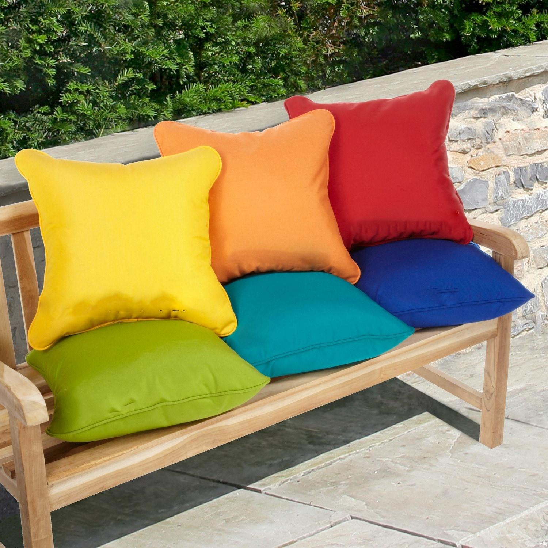 Sunbrella 20 Inch Indoor Outdoor Throw Pillows Set Of 2 On Sale Overstock 5042799