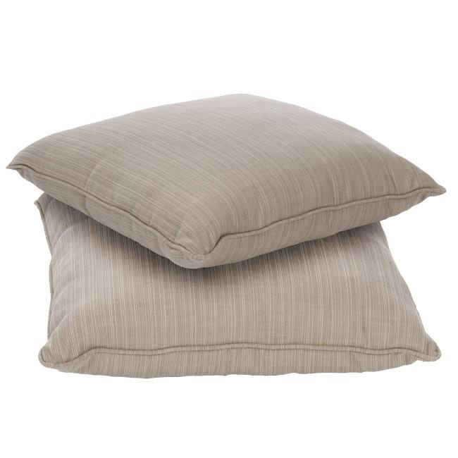 Sunbrella 20 Inch Indoor Outdoor Throw Pillows Set Of 2 Overstock 5042799