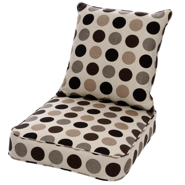 Clara Wicker Lounge Chair Cushion Set With Sunbrella Fabric Designer