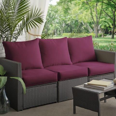Clara Indoor Outdoor Wicker Sofa Cushion Set Made With Sunbrella Fabric