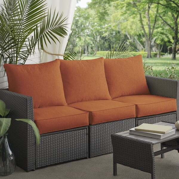 Clara Indoor Outdoor Wicker Sofa Cushion Set Made With