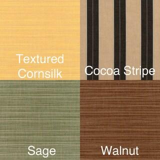 Clara Indoor/ Outdoor Wicker Sofa Cushion Set made with Sunbrella Fabric (Option: Textured Sage)
