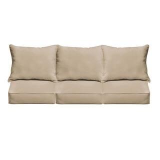 Clara Indoor/ Outdoor Wicker Sofa Cushion Set made with Sunbrella Fabric https://ak1.ostkcdn.com/images/products/5042924/P12920277.jpg?impolicy=medium