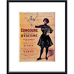 'Concours Internationaux Descrime' Metal Framed Print