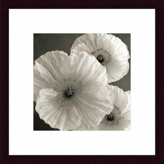 Sondra Wampler 'Poppy Study IV' Wood Framed Art Print