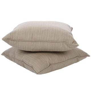 Clara 22-inch Outdoor Throw Pillows with Sunbrella Fabric (Set of 2)