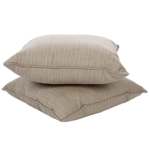 Shop Clara 22 Inch Outdoor Throw Pillows With Sunbrella Fabric Set