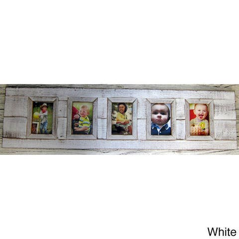 Handmade Boat Wood 5-Window Picture Frame (Thailand)