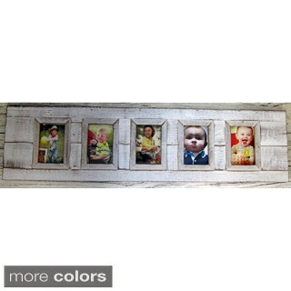Handmade Boat Wood 5-picture Frame (Thailand)