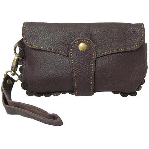 Amerileather Emi Leather Wristlet