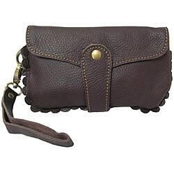 Amerileather Emi Leather Wristlet|https://ak1.ostkcdn.com/images/products/5043232/Amerileather-Emi-Leather-Wristlet-P12920438.jpg?impolicy=medium