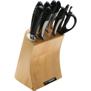 Top Chef 9-piece Stainless Steel Knife Block Set