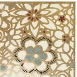Safavieh Paradise Garden Cream Viscose Rug (5'3 x 7'6) - Thumbnail 1