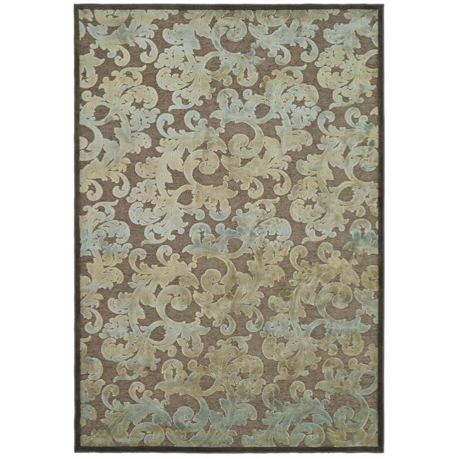 Safavieh Paradise Resorts Dark Brown Viscose Rug (8' x 11' 2 )