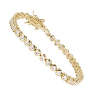 NEXTE Jewelry 14k Gold Overlay Clear Cubic Zirconia Tennis Bracelet|https://ak1.ostkcdn.com/images/products/5045114/P12922022.jpg?impolicy=medium